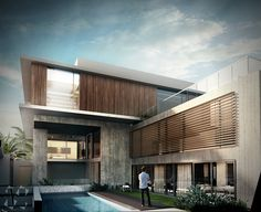 Exterior renders for a house in Kuwait City, Kuwait. Created for Lines Design.
