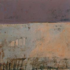 """Rebecca Crowell, """"Lake House #3"""", oil and wax on board-- love the softer, muted natural pallete"""