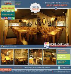OPEN ORDER : Furniture Cafe Jati Belanda  Melayani Pesanan : Jabodetabek Free ONGKIR Pembayaran : Cash, Debit, Kartu Kredit (all Bank) Info Produk & Pemesanan :  0812-9000-8038