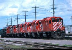 A westbound CP Rail train stops at Thunder Bay, Ontario for a crew change on September 19th, 1987.
