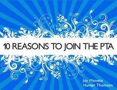 10 Reasons to Join the PTA