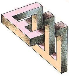 Les dessins aux perspectives impossibles d'Anatoly Konenko 3d Art Drawing, Geometric Drawing, 3d Drawings, Geometric Shapes, Illusion Drawings, Illusion Art, Impossible Shapes, Eye Tricks, Mc Escher