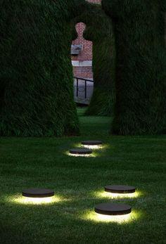 Recessed floor light fixture / LED / round / outdoor SKIFV Modular Lighting Instruments
