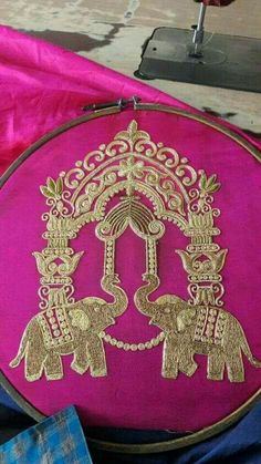 To order plz WhatsApp on 9703713779 Aari Embroidery, Hand Work Embroidery, Indian Embroidery, Hand Embroidery Designs, Machine Embroidery, Bridal Blouse Designs, Passementerie, Gold Work, Work Blouse