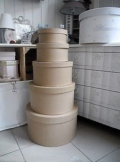 High Quality Diy Xxl #various Hat Box #round Box Tin Box #cardboard Art #cardboard