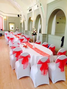 Wedding chair covers at Birmingham Botanical Gardens