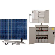 BPS Backup Solar Power Source — 6,000 Watt System, 120 Volt, 8 Batteries, 6 Solar Panels, Model# 6SXW6000 8AGM