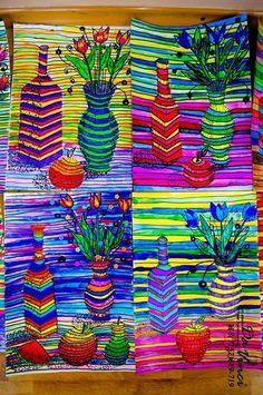 Image gallery – Page 75646468726396996 – Artofit Spring Art, Summer Art, Middle School Art Projects, Motif Art Deco, 7th Grade Art, Art Lessons Elementary, Op Art Lessons, Art Education Lessons, High Art