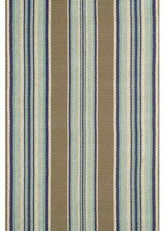$414 - 9' x 12' Dash and Albert Blue Heron Stripe Cotton Rug