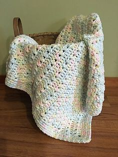 I enjoy crocheting preemie blankets to donate to NICU units for the tiny babies. It's a way to finish a project quickly, and feel good to know that the blanket will wrap a new baby in warmth and love. This one took me about 3 hours to complete.