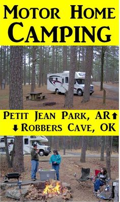 Check out our RV road trip. We rented a motor home for camping in during our family vacation to Petit Jean Park and Crater of Diamonds in Arkansas and Robbers Cave in Oklahoma. It is one of our family favorite vacations.
