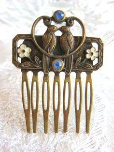Pididdly Links Brass Hair Comb