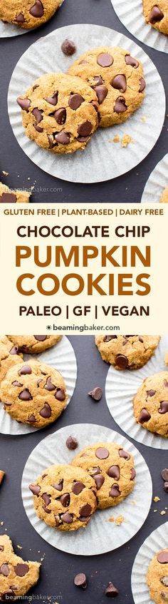 Paleo): an easy recipe for super soft pumpkin chocolate chip cookies ...