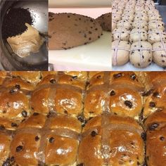 They're finally back. Chocolate Hot Cross Buns, Bread, Food, Brot, Essen, Baking, Meals, Breads, Buns