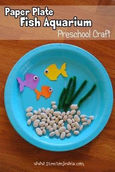 Paper Plate Fish Aquarium Craft | Preschool Crafts | Easy Tutorial at directorjewels.com by ora