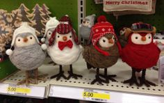 """I love these little birds!  I want some for my  """"bird"""" Christmas tree!"""