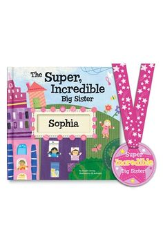 I SEE ME! 'The Super, Incredible Big Sister' Personalized Hardcover Book & Medal available at #Nordstrom