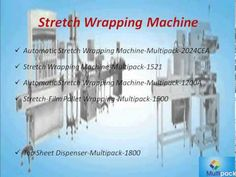 Automatic Stretch Wrapping Equipment from Multi Pack Machinery provides stretch wrapping machines to accommodate with your stretch wrapping needs.