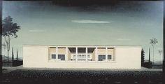 """Progetto della Villa Brizzi-Simen con patio alla, """"Mostra dell'abitazione"""" all'E.42, Roma  Enrico Del Debbio, 1939-41"""