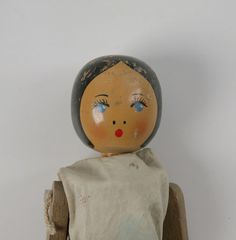 """Peg dolls were exactly what they say they are – dolls made from pegs! Only rich families could afford porcelain dolls and a lot of children had to """"make do"""". Here is an example of traditional 'make do' creations from the Beamish Archive.   The Beamish Agricultural Show takes place from Thursday 15th to Sunday 18th September. As part of this spectacular show, we would like to invite visitors to enter our Industry classes - one of which is crafts.  Why not give it a go by creating your own…"""