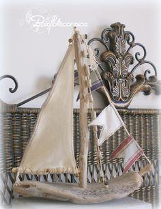 Guirlande bois flott bateau bois flott et voile en for Bricolage avec bois flotte