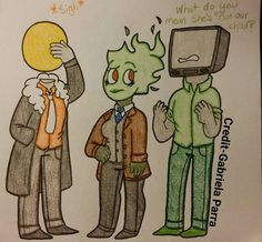 (@Baileychap456 ) Her flame head Amara and my T.v. Head and Sun head. She totally looks like a child of the two omg. Sorry I meased on the hands and neck v n v