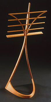 Look at the familiar with new eyes. Music stand by Christian Becksvoort.