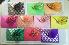 Diy Cards And Envelopes, Fancy Envelopes, Handmade Envelopes, Wedding Envelopes, Shagun Envelopes, Vellum Envelope, Custom Stencils, Envelope Design, Wedding Favor Bags