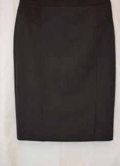 Jupe mi-longue grise anthracite  Comptoir Des Cotonniers laine
