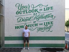 Had the pleasure of working on another project for Lululemon. This time, the company hired me to head over to Houston for a few days to design and paint this huge mural on the outside wall of the t...