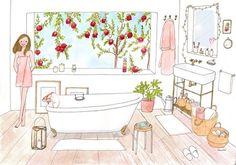Les travaux de ma salle de bains avancent, je peux espérer reprendre un bain dans 1 semaine... Kanako / Agence Marie Bastille