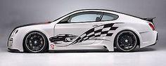 Street Racing Tribal Checkered Flag Racing Drift Tuned Car vinyl graphics tr029
