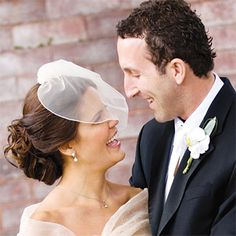 Best Wedding Hairstyles of 2009. Morgan, who married in Saratoga Springs, New York, wore a birdcage veil by seamstress Toshi Marsh of Something Bleu Bridal, for her ceremony...
