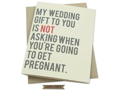 Funny Wedding Card, Friend's Wedding, Congrats on Marriage, Congratulations, Wedding Gift Card, Pregnant, Bridal Shower, For Bride, New Wife