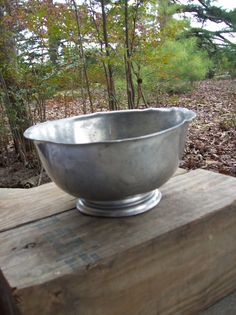 Vintage Pewter Bowl Farmhouse French Country by misshettie on Etsy, $12.00 Pottery Barn Style, Heart Ornament, Serveware, French Country, Pewter, Rustic Wedding, Primitive, Centerpieces, Decorating Ideas