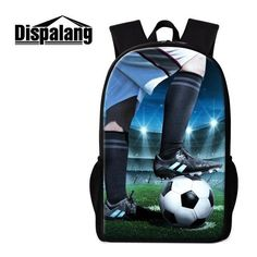 449b4e65e2 Dispalang Soccerly School Backpack for Teenager boys Basketbally bookbag  for primary student Lightweight Back Pack Pencil Bags