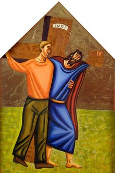 Station 5: Simon Helps Jesus Carry His Cross by James B. Janknegt