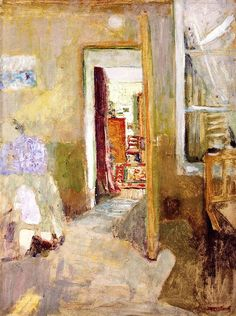 Edouard Vuillard (French, La porte ouverte [The open door], Oil on cardboard, x 40 cm. Edouard Vuillard, Monet, Impressionist Artists, Post Impressionism, Paul Gauguin, Art Moderne, Renoir, Kandinsky, French Artists