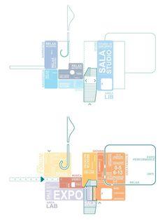 BiLo - New Library Lorenteggio - Gosplan Plan Concept Architecture, Architecture Program, Library Architecture, Plans Architecture, Tropical Architecture, Pavilion Architecture, Architecture Graphics, Architecture Portfolio, School Architecture