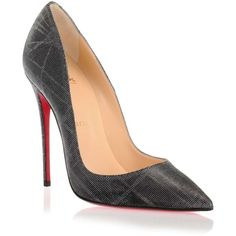 Christian Louboutin So Kate 120 tissu etincelle pump (2.485 BRL) ❤ liked on Polyvore featuring shoes, pumps, pointed toe stilettos, stilettos shoes, pointy toe stiletto pumps, high heels stilettos and heels stilettos