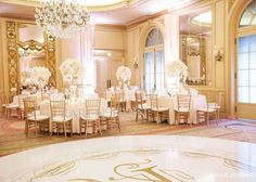 White and gold theme wedding