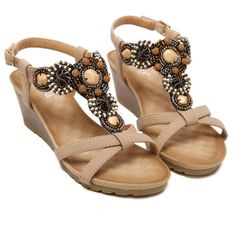 Bohemia Wedge Women Sandals Summer Vintage Rhinestone Woman Beach Women Shoes – #sandals #sandalsheels #sandalssummer #sandalsoutfit #sandalsflat #sandalsoutfitcasual #sandalsoutfitsummerchic #heelsclassy #heelsprom #heelsoutfits Shoes For College, Sandals Outfit Summer, Heels Outfits, Beach Flip Flops, Womens Flip Flops, Prom Shoes, Vintage Rhinestone, Wedge Sandals, Shoes Sandals