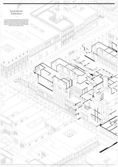 AA School of Architecture 2014 - Erez Levinberg Architecture Concept Diagram, Architecture Panel, Architecture Graphics, Architecture Visualization, Architecture Drawings, School Architecture, Architecture Layout, Axonometric Drawing, Isometric Drawing