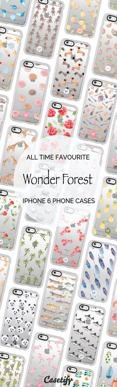 All time favourite iPhone 6 protective phone case designs by @wonderforest | Click through to see more iPhone 6 phone case ideas >>> https://www.casetify.com/wonderforest/collection | @casetify