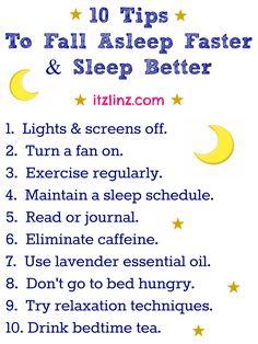 10 Tips To Fall Asleep Faster & Sleep Better #FitFluential