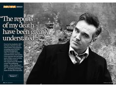 Morrissey in the January issue of Uncut Magazine. Picture via@PeterBirro on Twitter.