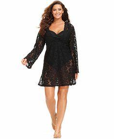 bfb0d39cf12 J Valdi Plus Size Long-Sleeve Lace Tunic Cover-Up   Reviews - Swimwear - Plus  Sizes - Macy s