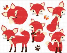 So Foxy! (Fox / Vixen Clipart) ~ Illustrations on Creative Market Woodland Critters, Woodland Creatures, Woodland Animals, Fuchs Silhouette, Art Fox, Fuchs Illustration, Art Mignon, Paper Toy, Child Room