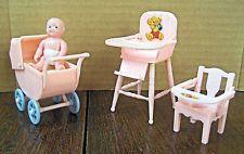 vintage Rensal dollhouse nursery set