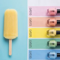 剩下的夏天,就用指尖的冰淇淋色來完成吧! Spend the rest of summer with these colorful ice cream colors!  #UNT #UNTGlobal #Nail #nailpolish #icecream #LV010 #LV015 #LV020 #LV025 #LV030 #ladolcevita #gummy #pink #yellow #peach #blue #green #summer #sun #ice #cool #color #colorful #girl #pretty  #icecream